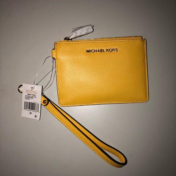 cd8e35517c2cf4 Michael Kors Bags | Mercer Colorblock Pebbled Leather Coin Purse ...